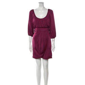 Black Halo Burgundy Dress